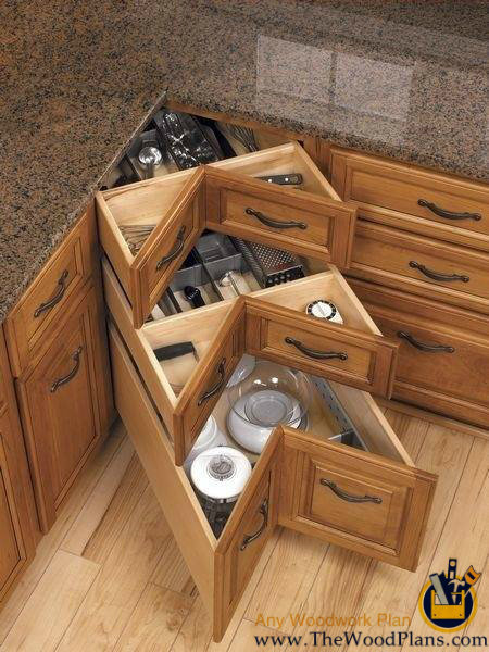 kitchen-corner-drawers-woodwork-project-plans