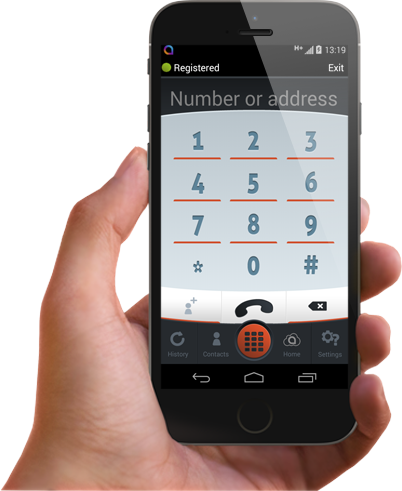 Mobile business voip app