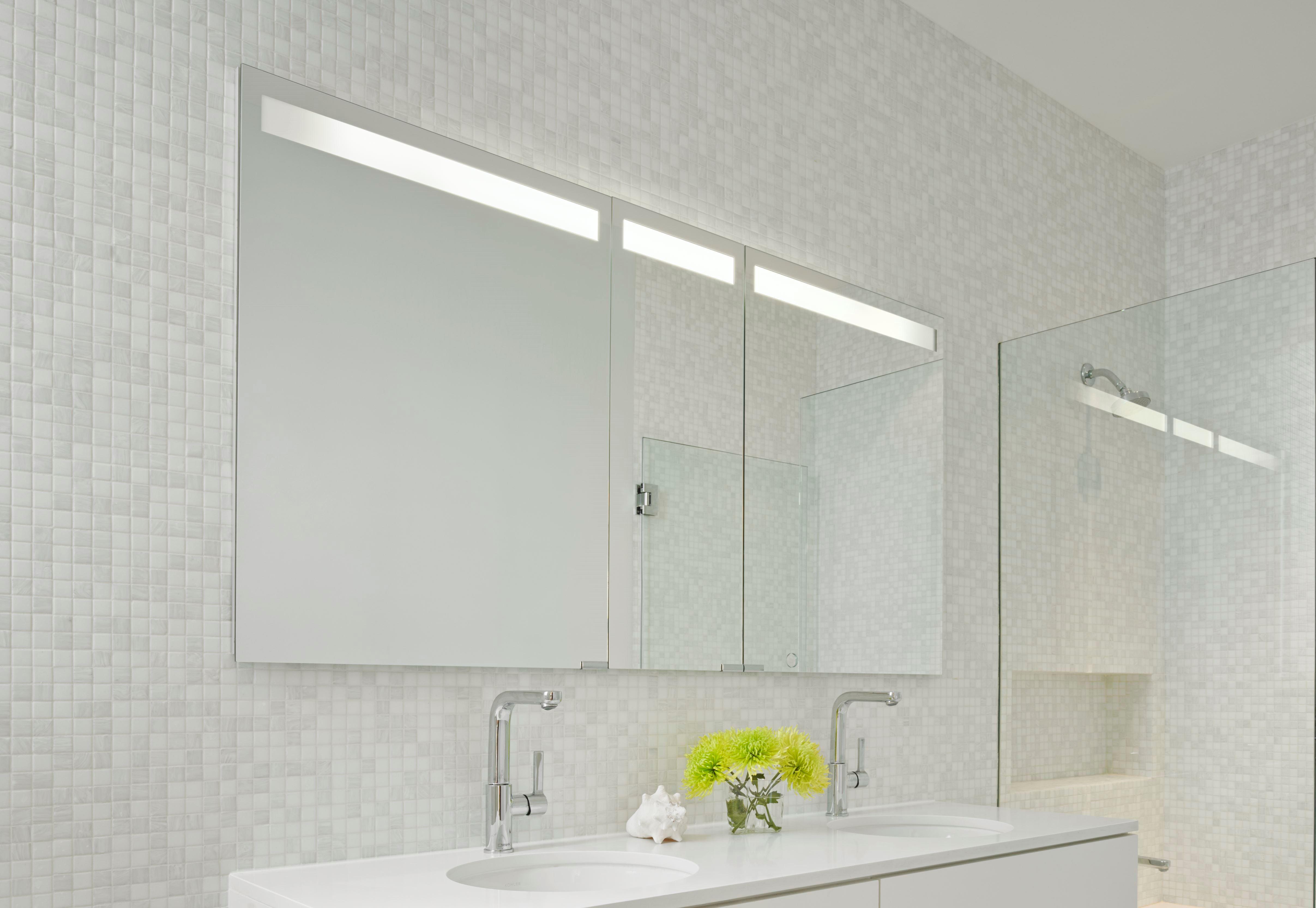 Mirrored bathroom wall cabinets